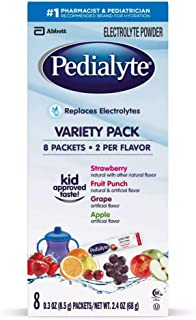 Pedialyte Electrolyte Solutions, 8 Powder Packs, Variety Pack
