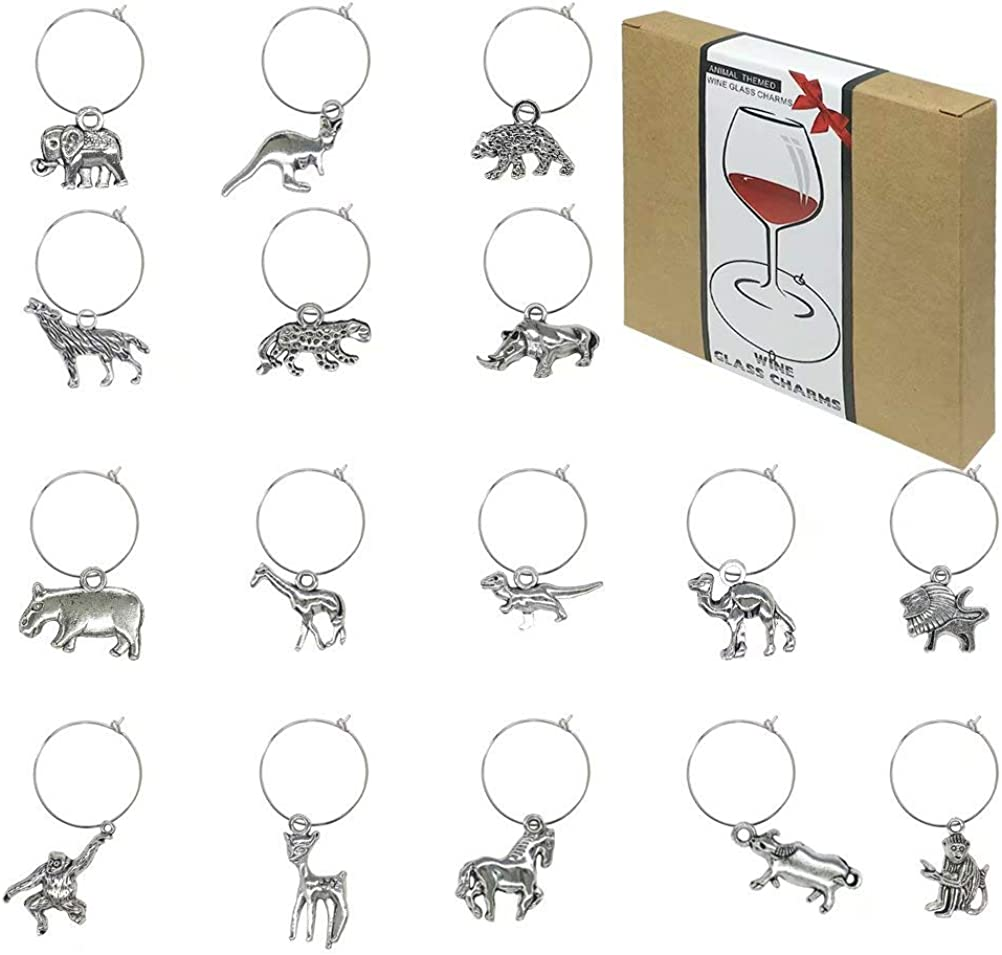 16 Pieces Minneapolis Mall Credence Wine Glass Charms Cha Tags Markers Identification