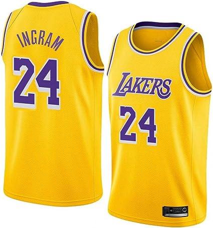 VEHJ Uomo Jersey Lakers 24# Kobe Bryant 8# 24# Maglie Viola Traspirante Ricamato Basket Swingman Jersey