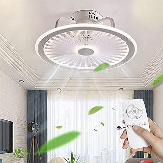 Ventilateurs de Plafond avec Lampe Intégrée Télécommande Assez Vitesse 3 Vent Réglable Ventilateur de Plafond Éclairage à ...