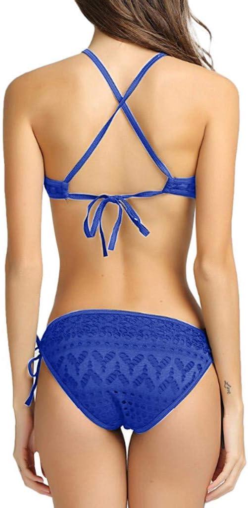 by Mollikar Beachwear for Women Women Solid Strappy Bandge Hollow Out One Piece Bikini Swimsuit Bathing Suit