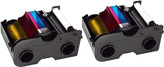 2 x Fargo 45000 Color Ribbon - YMCKO - 250 Prints with Bodno Software Demo