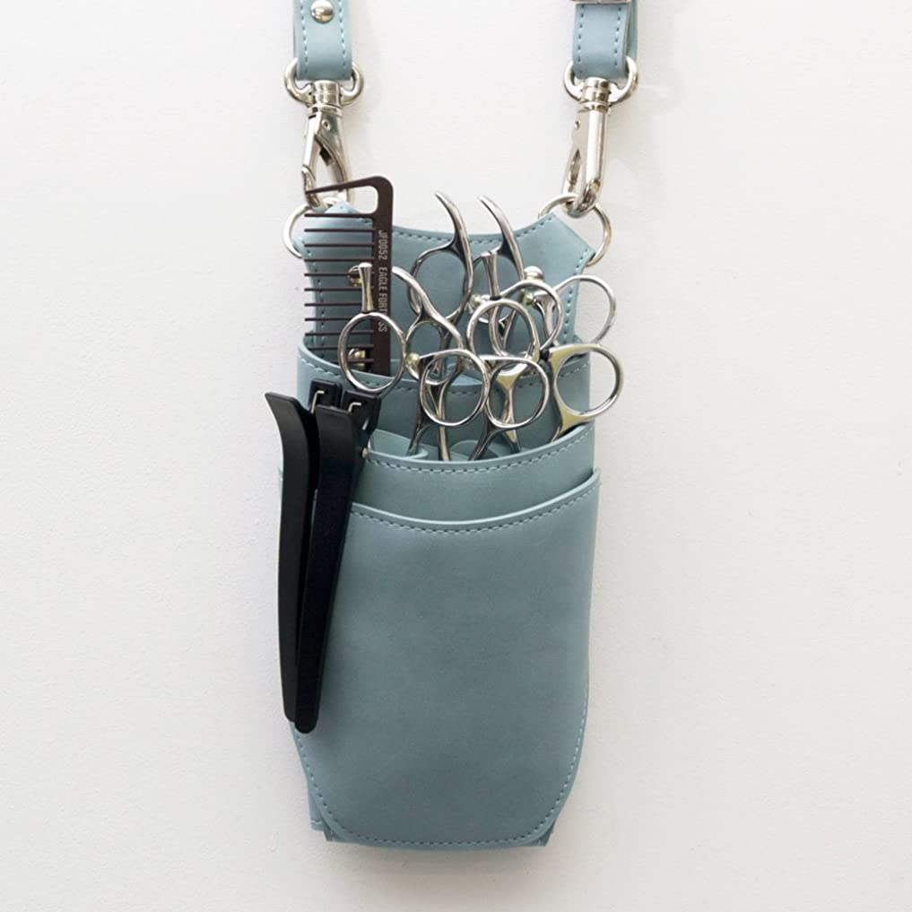 不平を言う海岸ラップdp オリジナル dp-AC105 ライトブルー 青色 3?5丁入れ シザーケース プロ仕様 美容師 理容師 トリマー
