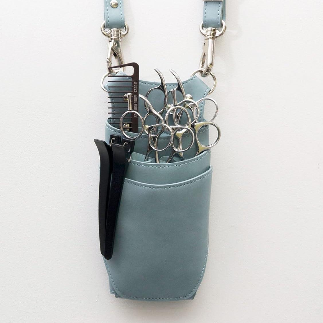 邪魔する既婚克服するdp オリジナル dp-AC105 ライトブルー 青色 3?5丁入れ シザーケース プロ仕様 美容師 理容師 トリマー