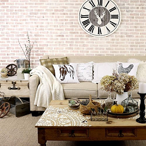 Bricks Stencil Wall Pattern - Wall Painting Stencils for Easy Room Makeover – Large Stencil for Painting Walls – Stenciling Instead of Wallpaper Saves Money – Stencils for Walls
