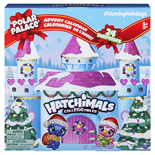 Hatchimals CollEGGtibles Advent Calender - Calendarios de adviento (Caja, Independiente, Multicolor, 24 Puerta(s), 24 Pieza(s), 5 año(s))
