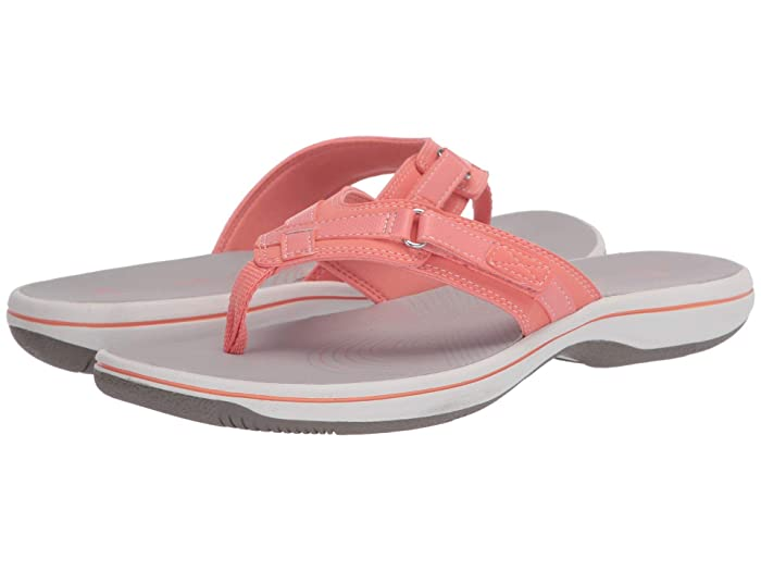Clarks  Breeze Sea (Coral Synthetic 2) Womens Sandals