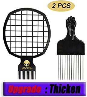 Afro Hair Pick Twist Comb Twist Hair Up Curly for Afros Dreads, 2 In 1 Afro Hair Coil Pick Combs