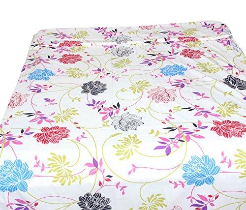 Kouber Industries Imprimé fleurs Taille complète simple réversible Dohar Couverture/lit/AC (Imprimé fleurs)