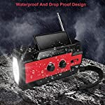 Emergency Weather Radio,Tintec 4000mAh Portable Solar Hand Crank NOAA Weather Radio with AM/FM, Motion Sensor Reading…