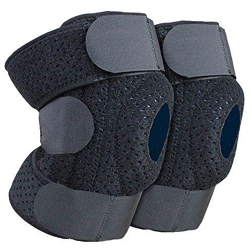 1x Paar Kniebandagen Knieorthese mit Gelkissen und seitlichen Schienen zur besseren Stabilisierung des Kniegelenks