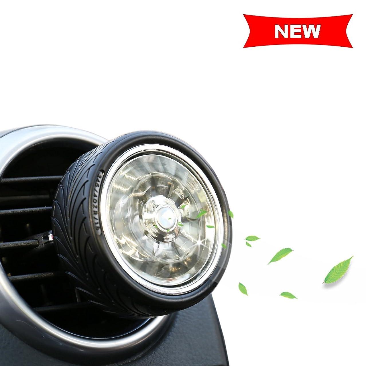 切り刻む持続的トイレAromatherapy Essential Oil Diffuser Car Air Freshener匂い、煙、臭気削除イオンエアークリーナー、シガレット、ほこり、なアクセサリーの自動車/ RV &車ギフト| CE、FCC、ROHS認定 1 Pack ブラウン CN-JYCXF01