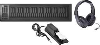 Roli Seaboard RISE 49 USB Keyboard Midi Controller/Synthesizer with Sustain Pedal and Headphones