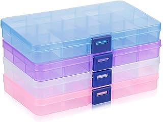 Scatola Di Stoccaggio In Plastica, innislink Organizzatore 15 Scomparti Regolabili Plastica Stoccaggio Strumento Contenito...