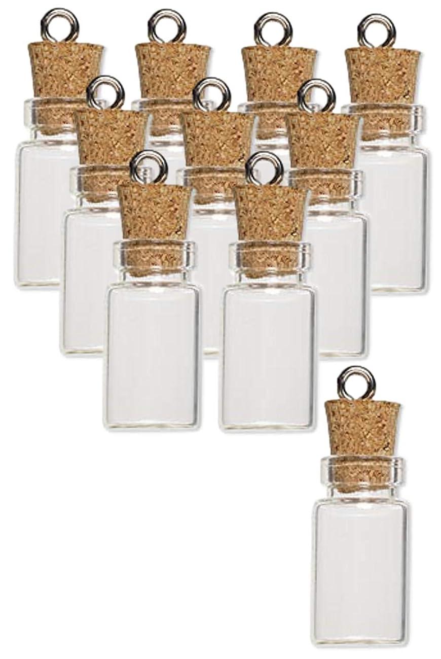 Charmed By Dragons Mini Glass Bottles 24mm Message Treasure Charm Pendant Kit (50)