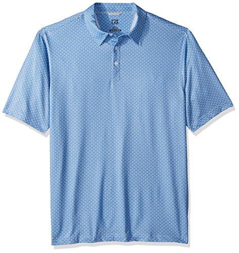 Cutter & Buck Herren Moisture Wicking Drytec UPF 50 Jersey Polo Shirt Poloshirt, Bolzenpassage Print, 2X