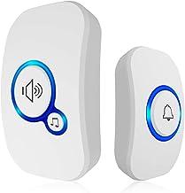 Deurbellen Draadloze Smart Deurbel Home Security Alarm Deurbel LED Licht met Waterdichte Knop Kit2