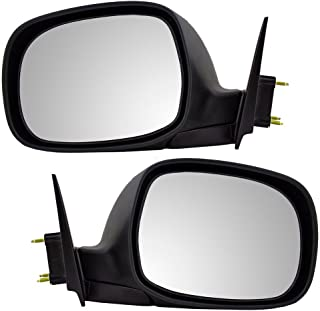 Driver and Passenger Manual Side View Mirror Replacement for Toyota Tundra Pickup Truck 879400C030 879100C030
