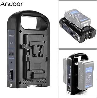 Andoer AD-2KS 2-Channel Dual Camcorder Battery Charger for V-Mount Battery for DSLR Video Camera