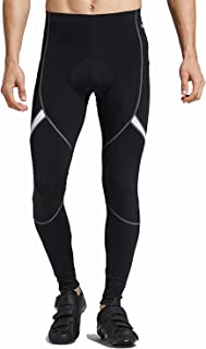 SANTIC Men's Cycling Bike Pants 4D Padded Long Bicycle Compression Tights Breathable Trousers