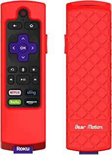 Bear Motion Case for Roku 2017/2018 Remote Controller - Silicone Shock Resistant Cover for Ruko 2017 Remote Controller (St...