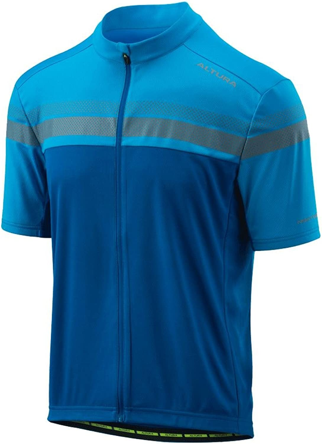 Altura Team blueee 2018 Nightvision Short Sleeved Cycling Jersey (Large, blueee)
