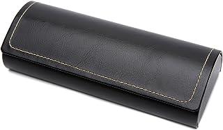 Hard Shell Eyeglass Case Polermax PU Leather Vintage Pattern Glasses Protective Case