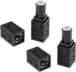 Perfeclan 2個入 空チューブ リップスティックチューブ 口紅チューブ リップクリーム 容器 DIY 化粧品 メイクアップツール 全2色 - ブラック