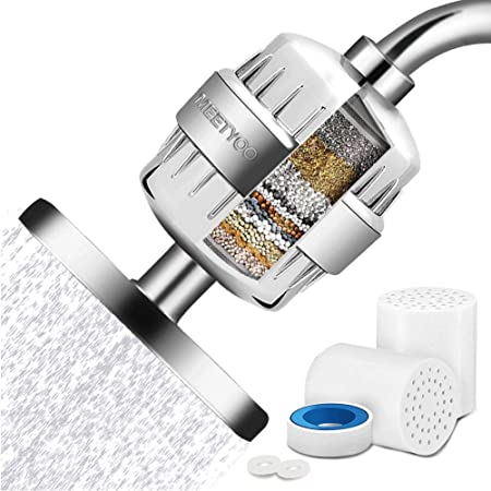 1 PACK 15 Stage Universal Shower Water Filter Cartridges Reduces Chemicals /& Chlorine Hard Water Restores PH Balance- Replacement for All Similar Shower Systems