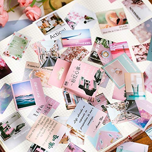 50pcs/pack Cute Washi Paper Stationery Sticker Set Charming Nature Decoration Label For Scrapbooking Diary Book Planner Album