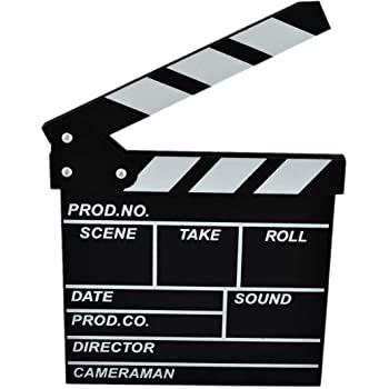 """8/"""" Working Wood CLAPBOARD with Chalk Movies Drama Theater  Birthday Party Favor"""