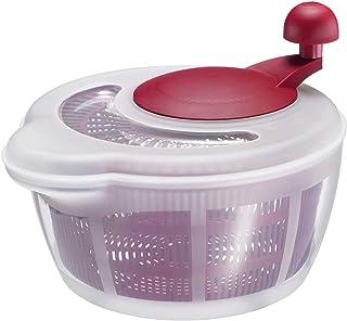 Westmark Essoreuse à Salade, Capacité : 5 litres, ø 26 cm, Plastique, sans BPA, Fortuna, Couleur : Transparent/rouge, 2432...