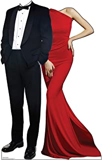 Advanced Graphics Red Carpet Couple Stand-in Life Size Cardboard Cutout Standup