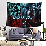 Star Heaven 15 Years of Supernatural Tapestry Wall Hanging Room Tapestry,Beach Blanket Tapestry Dorm Decor for Home/Picnic Cloth 59 X 59inch
