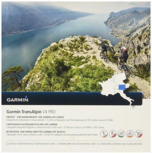 Garmin TransAlpin V4 PRO - Freizeit- und Wanderkarte für die Ostalpen mit ActiveRouting Funktionen
