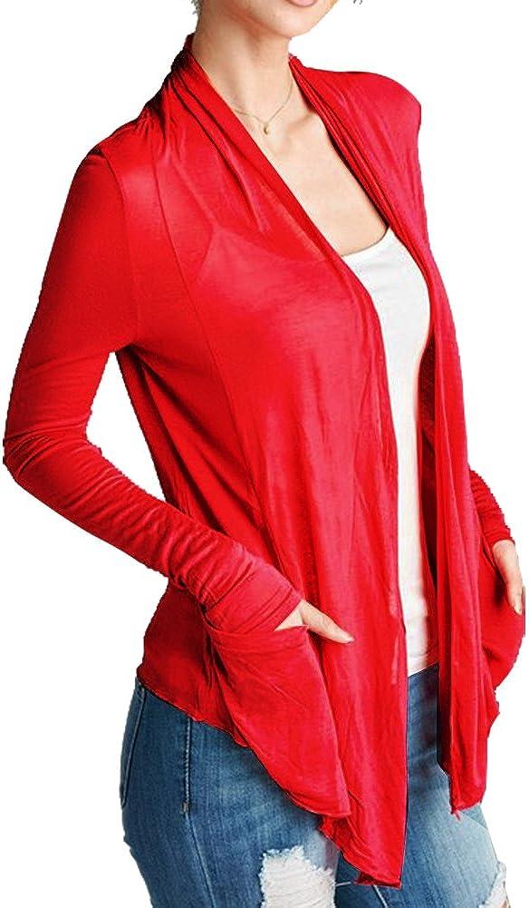 Women's Basic Semi-Sheer Light Weight Open Front Cardigan Sweater