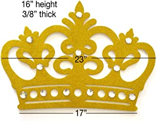 Glitter Crown Wall Decor, EVA Styrofoam, High Quality (Gold)