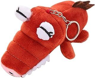 Creative Plush Animal Keychain, Elaco Cute Scrocodile Animals Backpack Accessories Home Bedroom Car Decorations