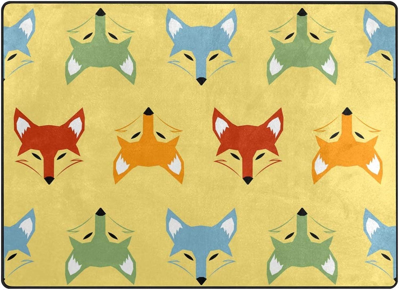 FAJRO colorful Fox Heads Rugs for entryway Doormat Area Rug Multipattern Door Mat shoes Scraper Home Dec Anti-Slip Indoor Outdoor