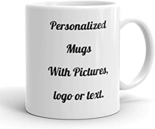 Personalized Coffee Mug - Add your Pictures, Logo, Text to Custom Mugs (11 Oz) – USA, Printing Express, Coffee Mug Customization Gift