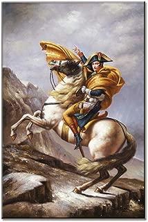 100% Handmade Oil Painting Napoleon Bonaparte Horse Portrait On Canvas Art Wall Famous Painting Replica (Napoleon, 36''Wx24''H)