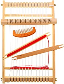 Weaving Loom Kit Wooden Warp Loom Hand Knitting Loom Tapestry Hand-Knitted Machine DIY Woven Set for Beginners and Children