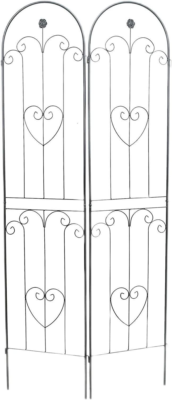 Better Garden Metal Garden Trellis Panel for Climbing Plants, Set of 2, 19.7