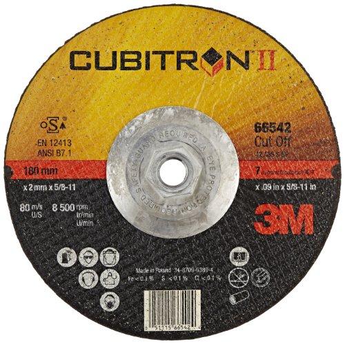 3M Cubitron II Cut-Off Wheel, 66542, T27 Quick Change, 7 in x .09 in x 5/8-11 in