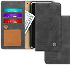 Apple iPhone 5 / 5s / SE Case [Free 9 Gifts] Trim LINE Flip Diary Cover with Slim Folding Wallet Design [Octopus Ver.] – Card Holder, Cash Slots, Kickstand, Hand Strap and Message Pad (Ash Gray)