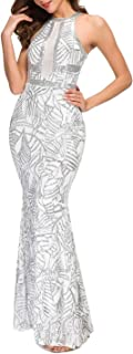 Women's Sexy Off Shoulder Sequin Evening Prom Long Gowns Fishtail Maxi Dress