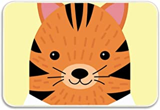 RENJUNDUN Personalized Doormat Cartoon Portrait of Tiger in Sweater Family Doormats Non-Slip Doormat Non-Woven Fabric Floor Mat Indoor Entrance Rug Decor Mat
