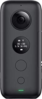 Insta360 ONE X - Videocámara 360° con Resolución de Video 5.7K Fotos de 18 Megapíxeles con Estabilizador FlowState Conexión WiFi en Tiempo Real Compatible con iOS y Android Bullet-time en 3K