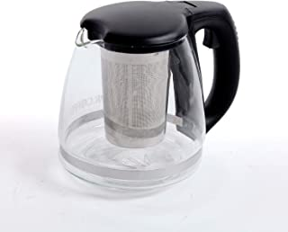 Mr. Coffee Teafuse 32 Ounce Glass Coffee and Tea Pot, Black