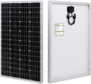 HQST 100 Watt Monocrystalline 12V Solar Panel with MC4 Connectors High Efficiency Module PV Power for Battery Charging Boat, Caravan, RV and Any Other Off Grid Applications